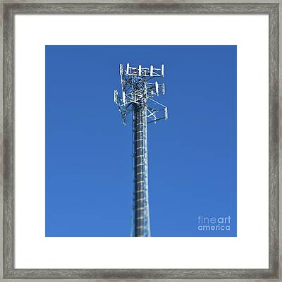 Telecommunications Tower Framed Print by Eddy Joaquim
