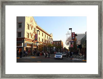 Telegraph Avenue At Bancroft Way In Berkeley California  . 7d10173 Framed Print by Wingsdomain Art and Photography
