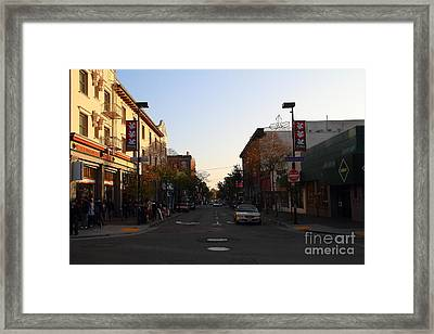 Telegraph Avenue At Bancroft Way In Berkeley California  . 7d10174 Framed Print by Wingsdomain Art and Photography