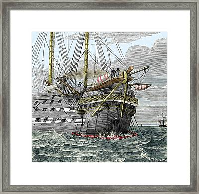 Telegraph Cable Laying Framed Print