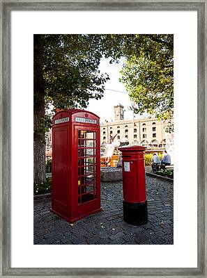Telephone And Mail Box Framed Print by Dawn OConnor