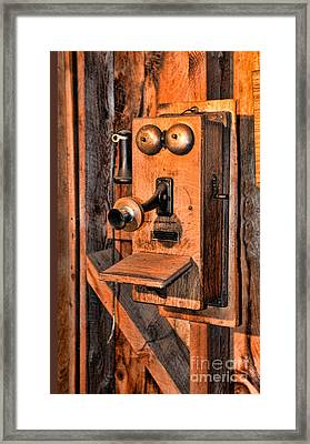 Telephone - Antique Hand Cranked Phone Framed Print by Paul Ward