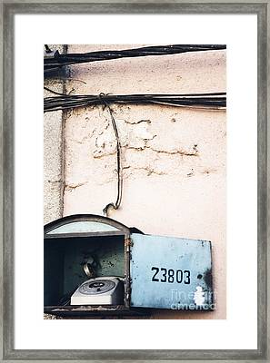 Framed Print featuring the photograph Telephone Booth by Agnieszka Kubica