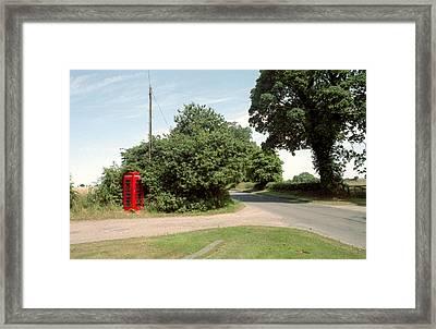 Telephone Box Framed Print by Victor De Schwanberg
