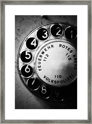 Telephone Dial Framed Print by Falko Follert