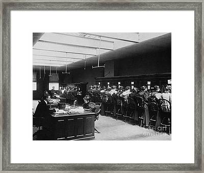 Telephone Exchange Framed Print by Science Source