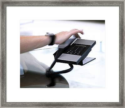 Telephone Use Framed Print