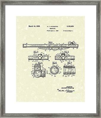 Telescope 1939 Patent Art Framed Print by Prior Art Design