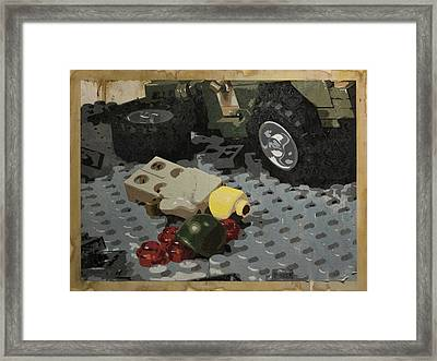 Tellermine Aftermath Framed Print by Josh Bernstein