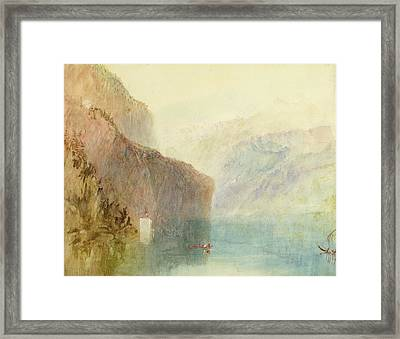 Tell's Chapel - Lake Lucerne Framed Print by Joseph Mallord William Turner