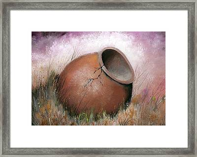 Temecula Pottery Original Framed Print