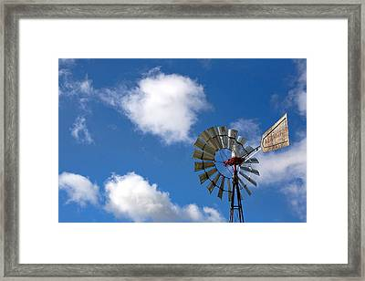 Temecula Wine Country Windmill Framed Print by Peter Tellone