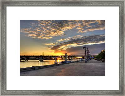 Tempe Town Lake Sunrise Framed Print