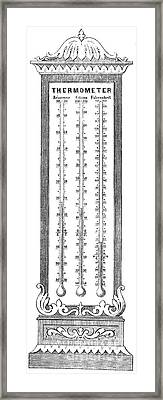 Temperature Scales, 1870 Framed Print by Science Source