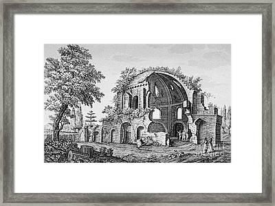 Tempio Di Minerva Medica In Roma, 18th Framed Print