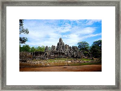 Temple Framed Print by Arik S Mintorogo