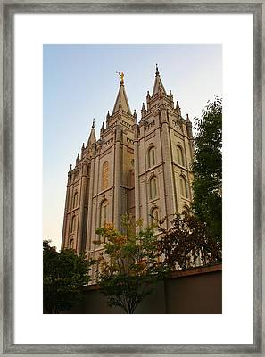 Temple Framed Print by Bruce Bley