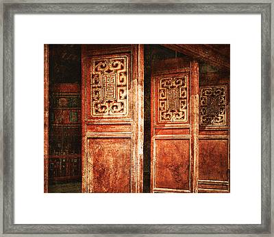 Temple Door Framed Print by Skip Nall