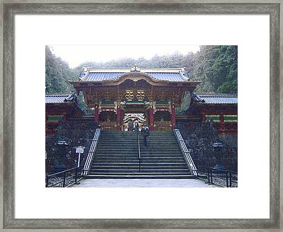 Temple Entrance Framed Print by Naxart Studio