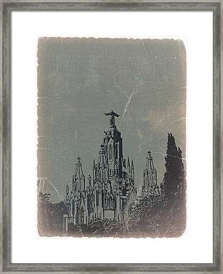 Temple Expiatory Framed Print by Naxart Studio