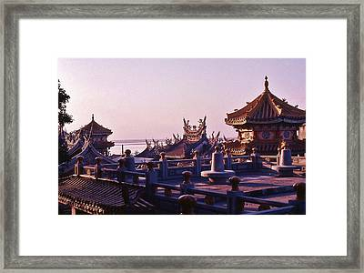 Framed Print featuring the photograph Temple Near Peitou Taiwan by Craig Wood