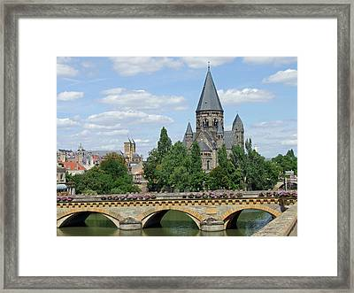 Framed Print featuring the photograph Temple Neuf De Metz Metz France by Joseph Hendrix