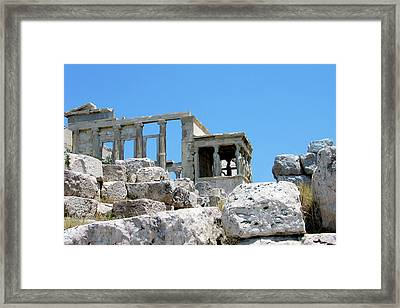 Temple Of Athena On Acropolis Framed Print