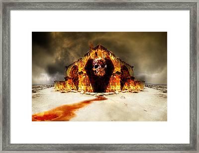 Temple Of Death Framed Print by Jaroslaw Grudzinski