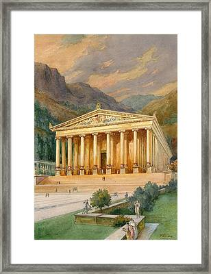 Temple Of Diana Framed Print by English School