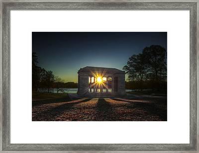 Temple Of Music At Sunrise Framed Print