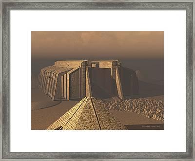 Temple Of Neoegypt Framed Print