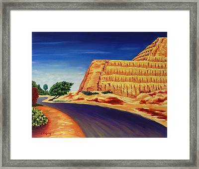 Temple Of The Sun , Peru Impression Framed Print