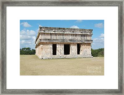 Temple Of The Turtles At Uxmal Mexico Framed Print by Shawn O'Brien