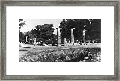 Temple Of Zeus, Olympia, Greece Framed Print