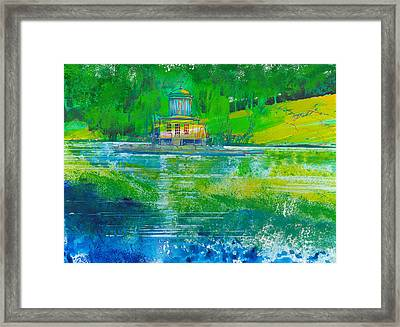 Temple On An Island Framed Print by David Bates