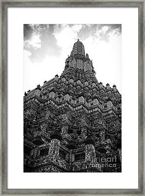 Temple Pillar Framed Print