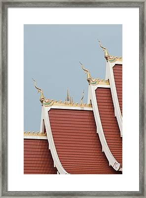 Temple Roof Detail. Framed Print by Thomas Pickard