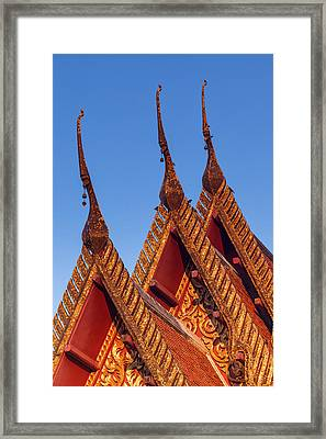 Temple Roof Framed Print by Thomas  von Aesch