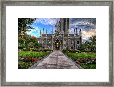 Temple Square Assembly Hall Framed Print