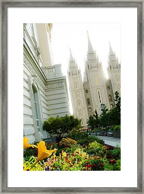 Temple Tilt Framed Print by La Rae  Roberts