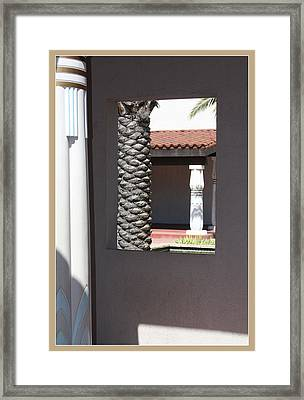 Temple Window Framed Print by Susan Alvaro