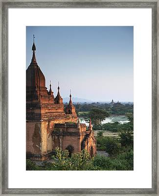 Temples Of Bagan Framed Print by Nina Papiorek