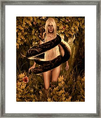 Temptation And Fall Framed Print