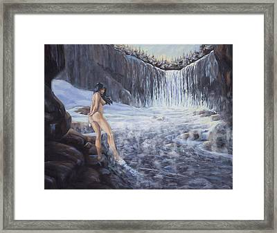 Temptation Of Ice Framed Print by Kurt Jacobson