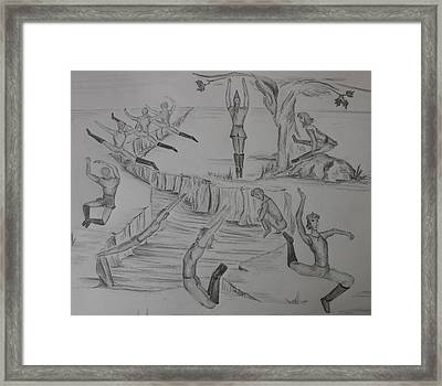 Ten Lords A Leapning Framed Print by Carol Frances Arthur
