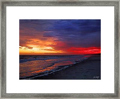 Ten Minutes On The Beach  Framed Print by Phill Doherty