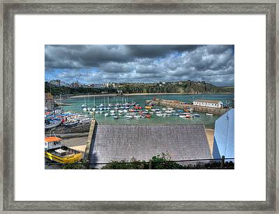 Framed Print featuring the photograph Tenby Harbour Pembrokeshire 1 by Steve Purnell