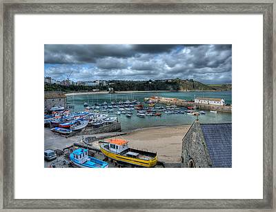 Framed Print featuring the photograph Tenby Harbour Pembrokeshire 2 by Steve Purnell