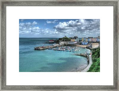 Framed Print featuring the photograph Tenby Harbour Pembrokeshire 4 by Steve Purnell