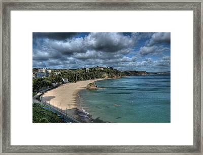 Framed Print featuring the photograph Tenby North Beach Pembrokeshire  by Steve Purnell